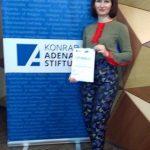 Ізбаш Світлана учасниця тренінгу-семінару з медіаграмотності «Журналістика конфліктів: стереотипи, лексика, акценти»