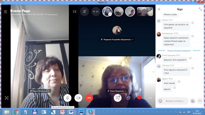 Засідання Вченої ради Університету в Skype режимі