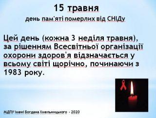 День пам'яті померлих від СНІДу